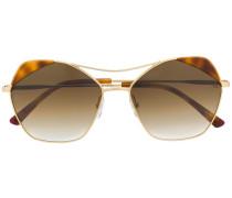 Sonnenbrille mit Kontrasteinsätzen