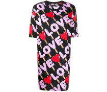 "T-Shirtkleid mit ""Love""-Print"
