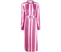 Gestreiftes Kleid im Layering-Look