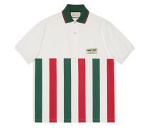 Oversized-Poloshirt mit Webstreifen