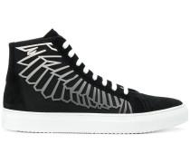 angel wings hi-top sneakers