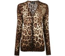 - leopard print cardigan - women - Seide/Kaschmir