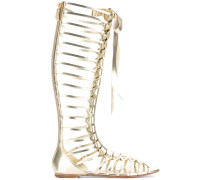 - knee-length strappy flat sandals - women