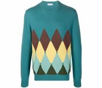 argyle-pattern cashmere sweater