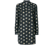 star print shirt dress