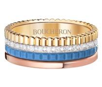 Kleiner 18kt 'Quatre Blue Edition' Weißgoldring