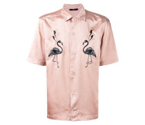 Hemd mit Flamingo-Patches - men - Polyester - XL