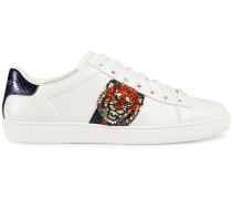 'Ace' Sneakers mit Feline-Stickerei