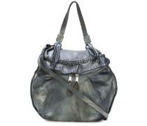 whipstitch detail shoulder bag