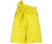 Geblümte Shorts mit Bindegürtel