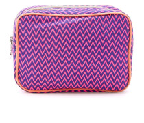 zig zag pattern makeup bag
