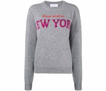 New York intarsia-knit jumper
