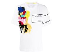 'Untitled' T-Shirt mit Paillettenstickerei