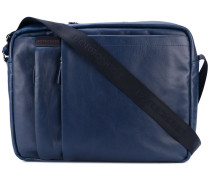 front zip shoulder bag - men - Leder
