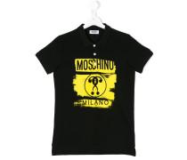 Poloshirt mit Logo-Print