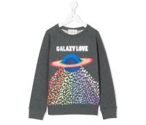 Sweatshirt mit Planeten-Print