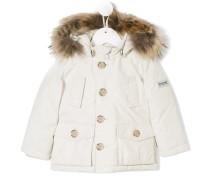 raccoon fur hooded jacket
