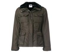 fur trimmed military jacket