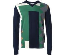 Intarsien-Pullover in Colour-Block-Optik - men
