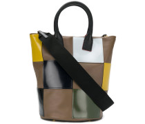 chequered tote bag