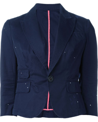 three-quarter length sleeve blazer