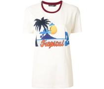 T-Shirt mit tropischem Print