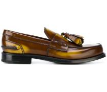 'College' Loafer mit Glanzeffekt