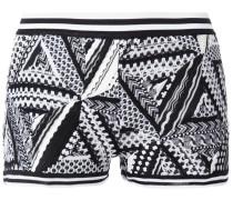 Gestrickte Shorts mit geometrischem Muster