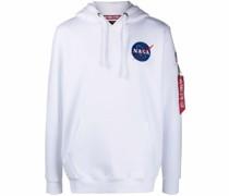 NASA-print drawstring hoodie