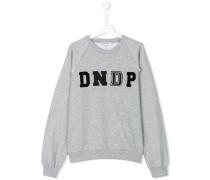 teen embroidered logo sweatshirt