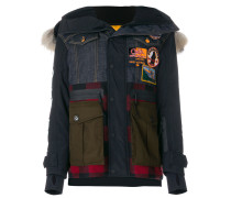 patchwork padded jacket