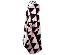 Asymmetrisches Kleid mit Dreieckmuster - women