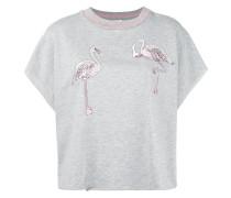 Oberteil mit Flamingostickerei