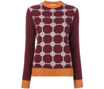grid intarsia sweater