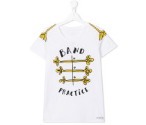 band uniform print T-shirt
