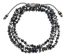 Armband mit Schmucksteinen und Silberperlen