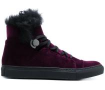 Samt-High-Top-Sneakers