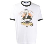 """T-Shirt mit """"Da Michele""""-Print"""