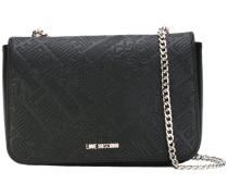 logo embossed shoulder bag - women