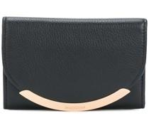 gold tone foldover purse