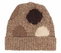 Intarsien-Mütze mit Polka Dots