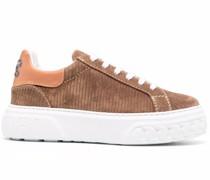 Flatform-Sneakers aus Cord