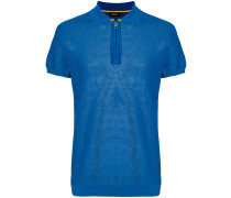 zip front polo shirt