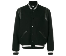 contrast-cuff bomber jacket