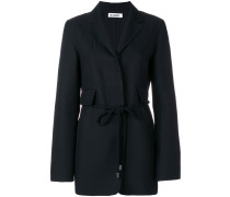 belted fitted blazer