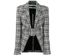 houndstooth belted jacket