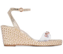 'Dina' 90mm Wedge-Sandalen