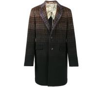 Karierter Mantel mit Farbverlauf