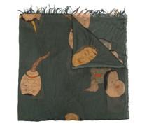 Schal mit Masken-Print