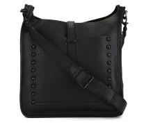 'Unlined feed' messenger bag